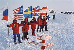 flags in the North Pole