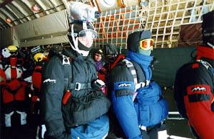 North Pole skydiving - just before jump
